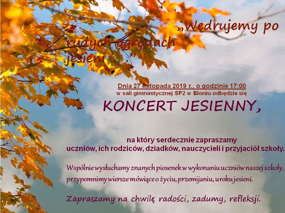 Błonie Koncert Jesienny W Sp Nr 2 Z Oddziałami